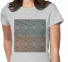 Old World Cross Patch Womens Fitted T-Shirt