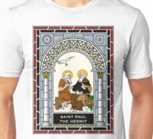 ST PAUL THE HERMIT under STAINED GLASS Unisex T-Shirt
