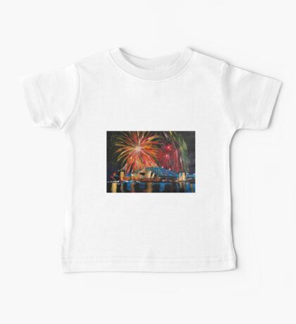 Sydney Silvester Fireworks At New Year Baby Tee