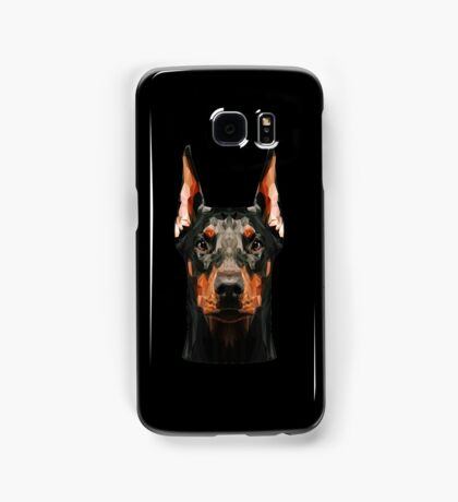 Doberman low poly Samsung Galaxy Case/Skin