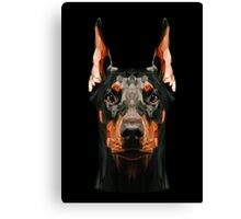 Doberman low poly Canvas Print