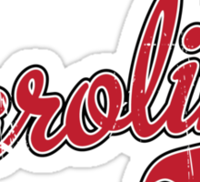 Carolina Script Garnet VINTAGE Sticker
