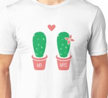 Mr. and Mrs. Cacti Unisex T-Shirt