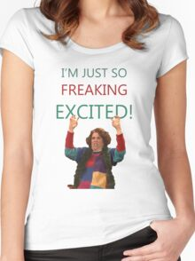 Kristen Wiig: I'm just so freaking excited!  Women's Fitted Scoop T-Shirt