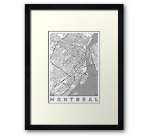 Montreal Map Line Framed Print