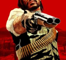 red dead redemption poster Sticker