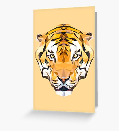 Tiger low poly Greeting Card
