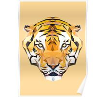 Tiger low poly Poster