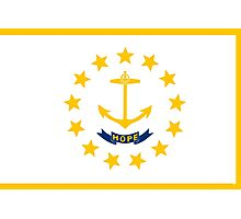 Rhode Island State Flag Photographic Print