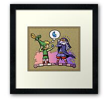 Legend of Zelda Vaati and Link T-Shirt Framed Print