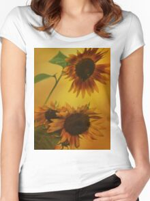 Sunflower Sunset Women's Fitted Scoop T-Shirt