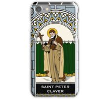 ST PETER CLAVER under STAINED GLASS iPhone Case/Skin