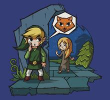 Legend of Zelda Wind Waker Meow T-Shirt by Purrdemonium
