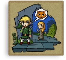 Legend of Zelda Wind Waker Meow T-Shirt Canvas Print