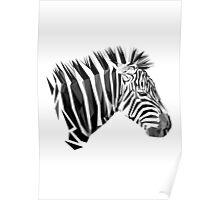 Zebra low poly Poster