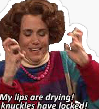 Kristen Wiig: my lips are drying  Sticker