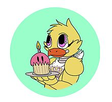 Chica the Chicken (FNAF Bubbles Collection) Photographic Print