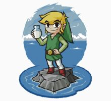 Legend of Zelda Wind Waker Bottle of Milk T-Shirt by Purrdemonium