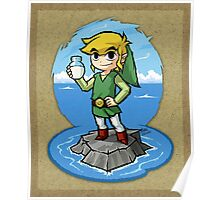 Zelda Wind Waker Bottle of Milk Poster