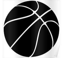 Basketball silhouette in black and transparent Poster