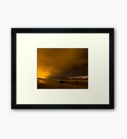 SS Dicky shipwreck, Sunshine Coast Framed Print