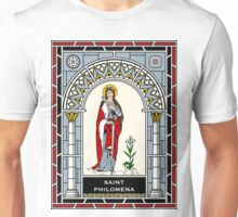 ST PHILOMENA under STAINED GLASS Unisex T-Shirt