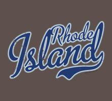 Rhode Island State Script VINTAGE Blue by USAswagg2