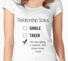Relationship Status Women's Fitted Scoop T-Shirt