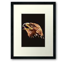Eagle low poly Framed Print