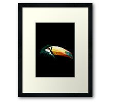 Toucan low poly Framed Print