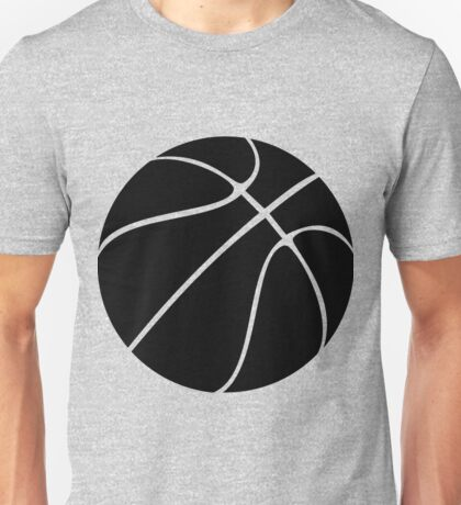 Basketball silhouette in black and transparent Unisex T-Shirt