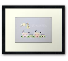 Stork Design for girls room Framed Print