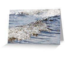 Waves rolling into shore Greeting Card