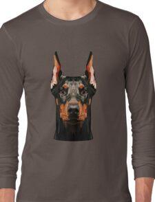 Doberman low poly Long Sleeve T-Shirt
