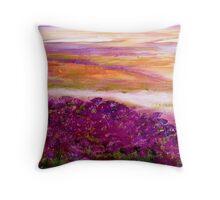Coloured heath Throw Pillow
