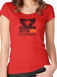 SottoZen - Shattered Logo with Slogan Women's Fitted Scoop T-Shirt