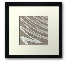 white ink on brown cardboard Framed Print