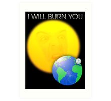 Moriarty - I Will Burn You Art Print