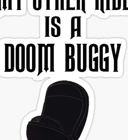 Doom Buggy (Black Text) Sticker