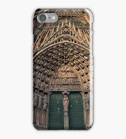 Strasbourg Cathedral Facade, France iPhone Case/Skin