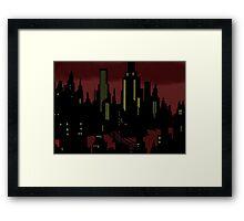 Batman The Animated Series Gotham City Framed Print