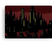 Batman The Animated Series Gotham City Canvas Print