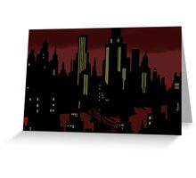 Batman The Animated Series Gotham City Greeting Card