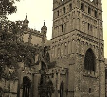 Exeter Cathedral in Sepia by lezvee