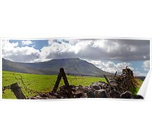 Ingleborough over the Wall Poster