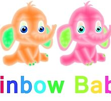 Rainbow Baby Elephants by MichelleElaine Smith
