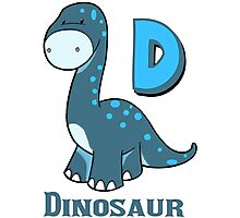 D is for Dinosaur  Photographic Print