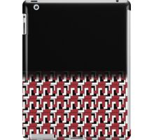 Retro Red Black White Tile Fade Out iPad Case/Skin