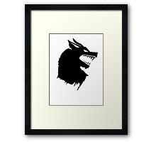 Game of Thrones Direwolf  Framed Print