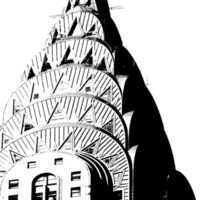 Top of the Art Deco Chrysler Building  Sticker